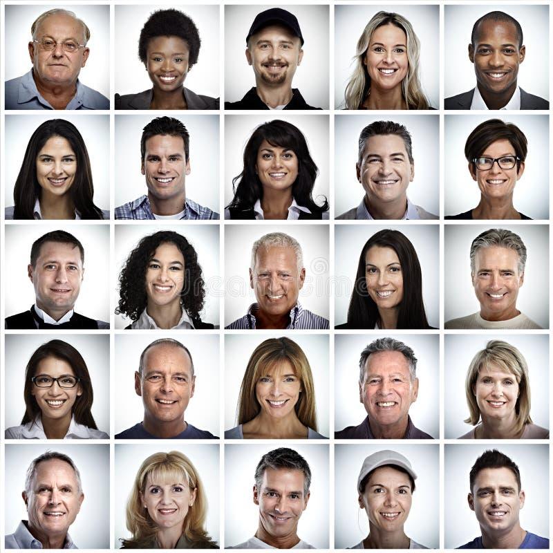 Grupo de cara de sorriso dos povos imagem de stock royalty free