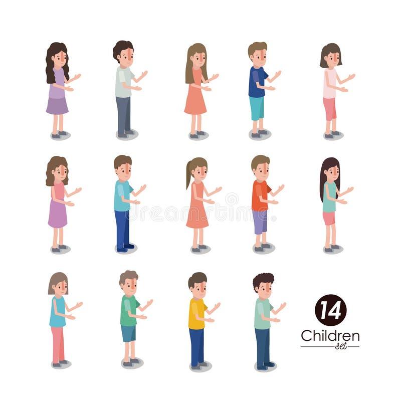 Grupo de caracteres de los niños libre illustration