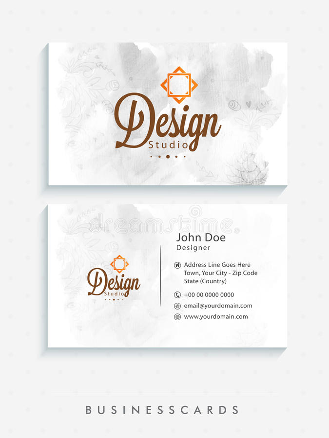 Grupo de cartão criativo do cartão ou da visita ilustração stock