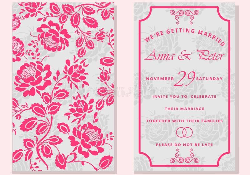 grupo de cartões com flor Excepto a tâmara Rotulação à moda para cumprimentos ilustração do vetor