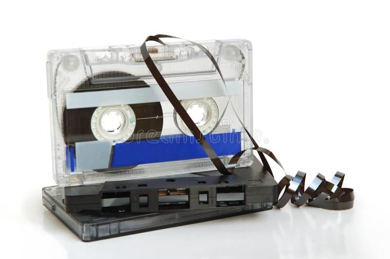 Grupo de cassetes de banda magnética imagem de stock royalty free