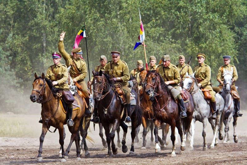 Grupo de cavaleiros do cavalo fotos de stock royalty free