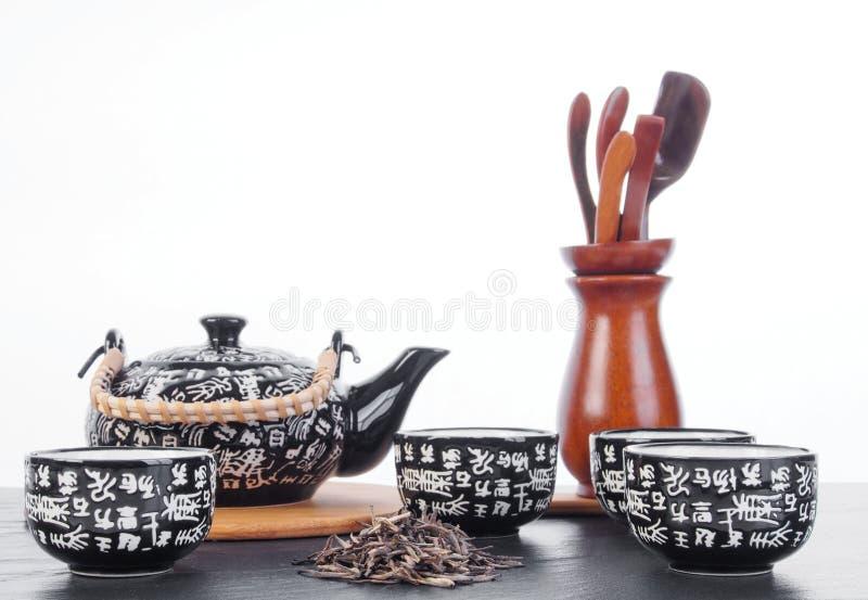 Grupo de chá chinês para a cerimônia de chá imagens de stock