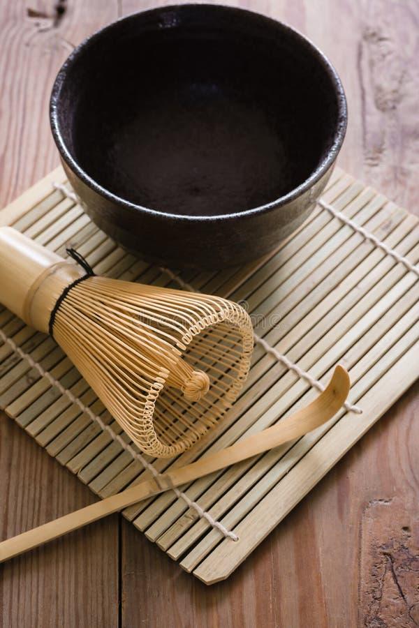 Grupo de chá de Matcha imagem de stock