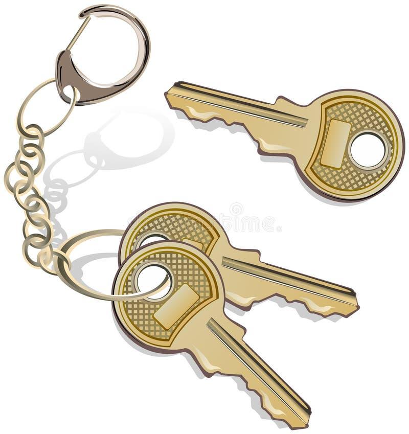 Grupo de chaves ilustração do vetor