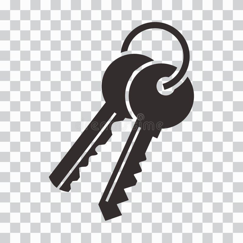 Grupo de chaves ?cone preto Ilustra??o do vetor ilustração do vetor