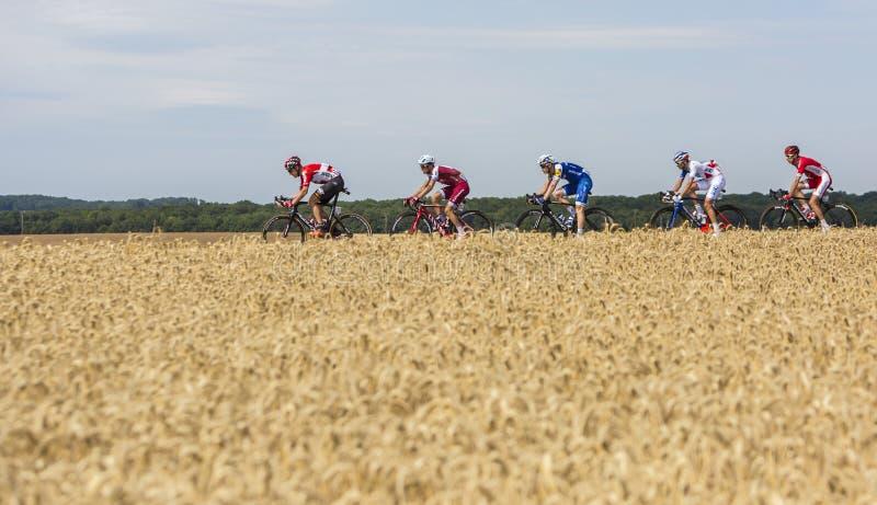 Grupo de ciclistas - Tour de France 2017 imagenes de archivo