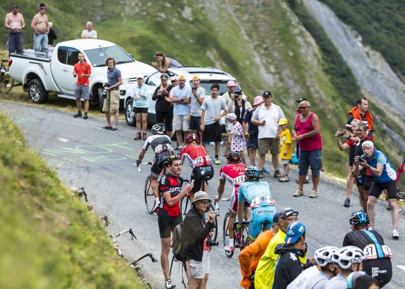 Grupo de ciclistas - Tour de France 2015 fotografía de archivo libre de regalías