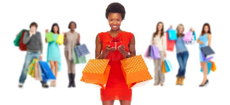 Grupo de clientes de las compras imagen de archivo libre de regalías
