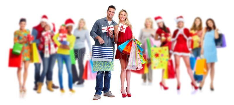 Grupo de clientes de las compras fotos de archivo libres de regalías