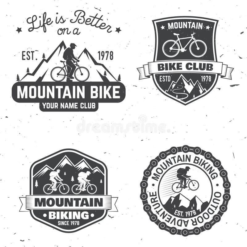 Grupo de clubes biking da montanha Ilustração do vetor ilustração do vetor