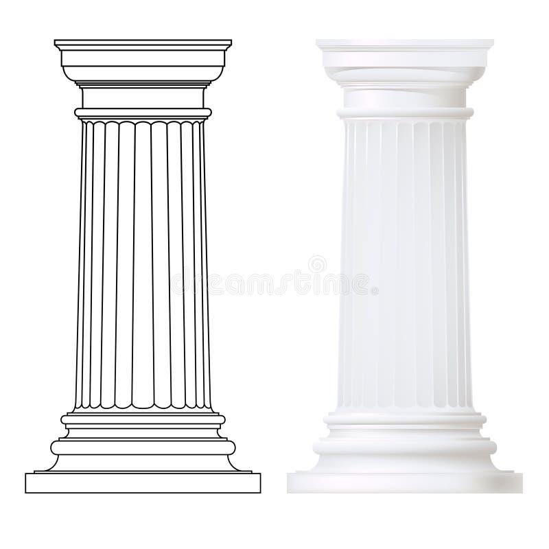 Grupo de colunas doric ilustração do vetor