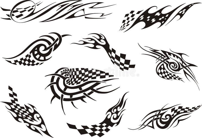 Grupo de competir tatuagens ilustração royalty free