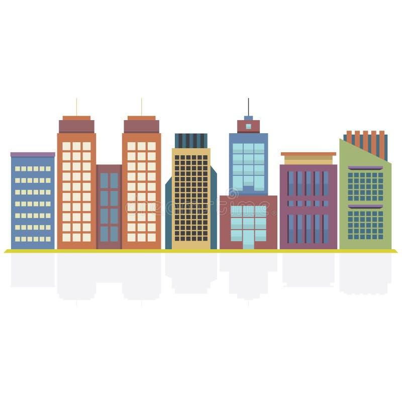 Grupo de construções da cidade ilustração royalty free