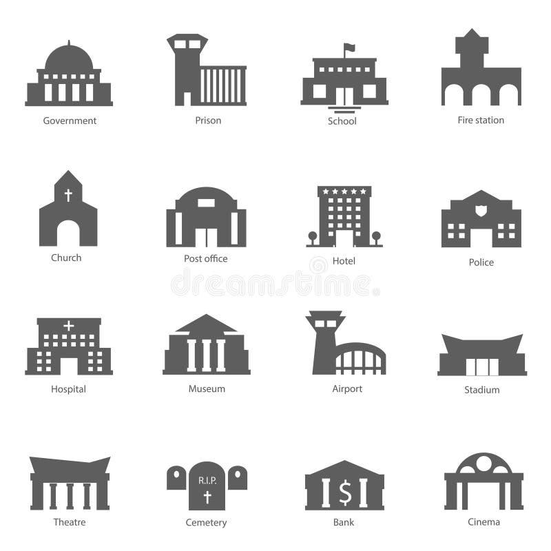 Grupo de construções do governo imagens de stock royalty free