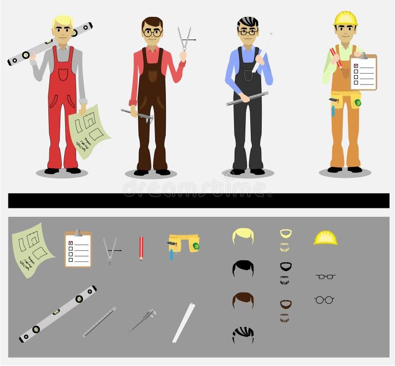 Coordenadores ilustração stock