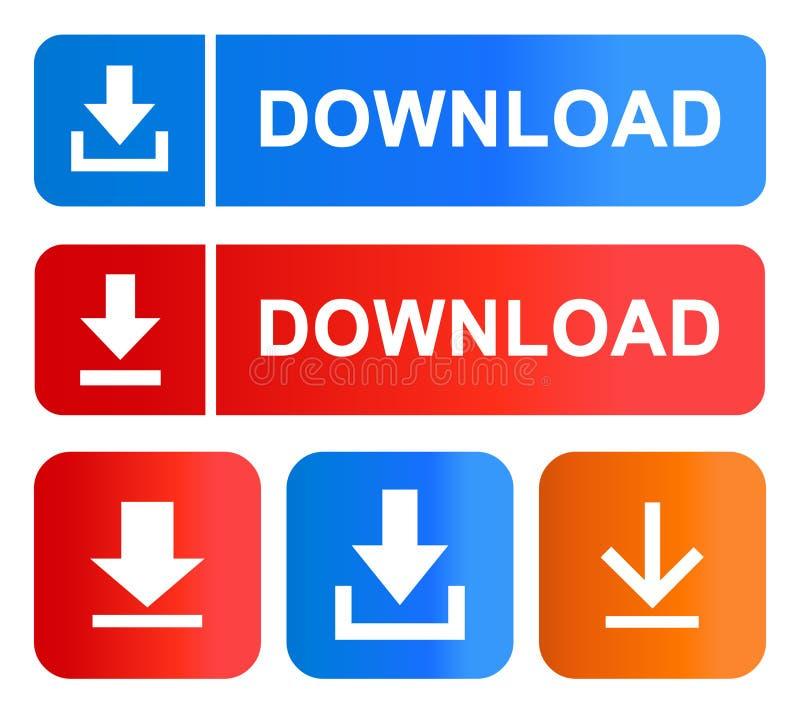 Grupo de cor eps dos botões da transferência ilustração royalty free