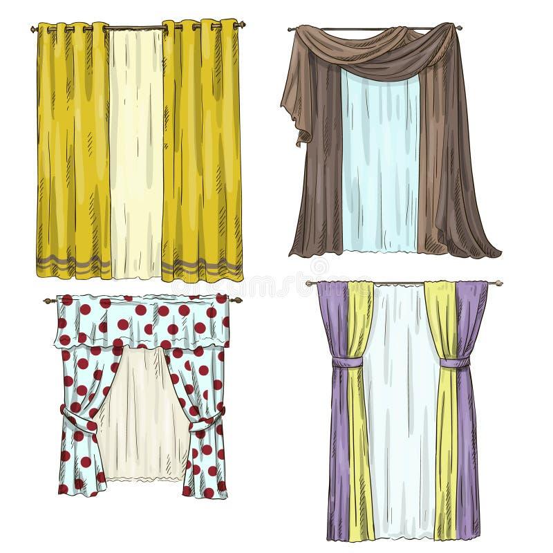 Grupo de cortinas detalhes interiores estilo dos - Cortinas de interior ...