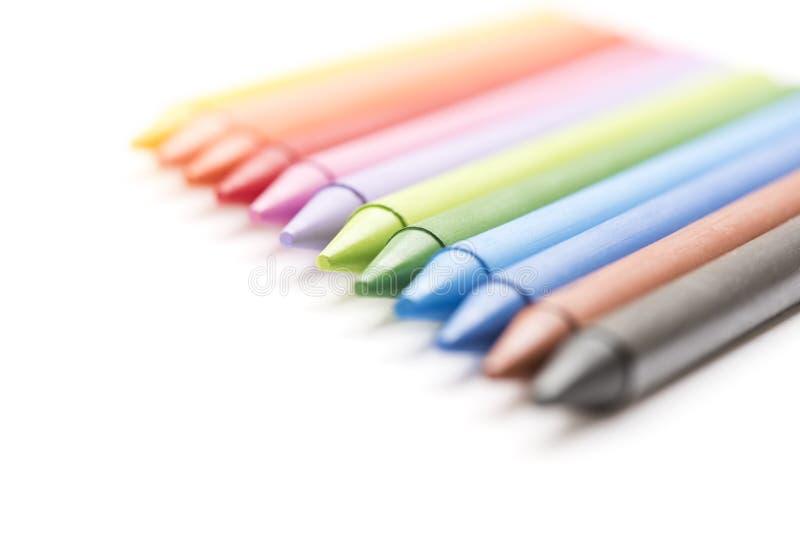 Download Grupo De Creyones Coloreados En El Fondo Blanco Imagen de archivo - Imagen de coloreds, cuaderno: 100525019