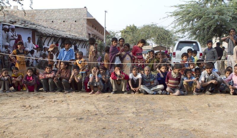 Grupo de criança rural imagem de stock royalty free