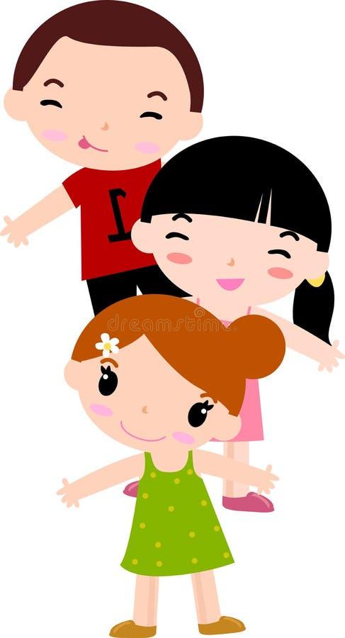 Grupo de crianças ilustração do vetor