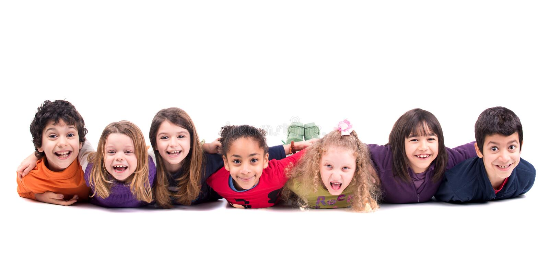 Grupo de crianças fotografia de stock royalty free
