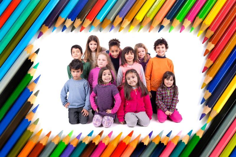 Grupo de crianças fotografia de stock