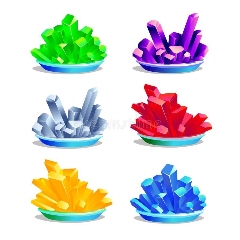 Grupo de cristais coloridos ilustração royalty free