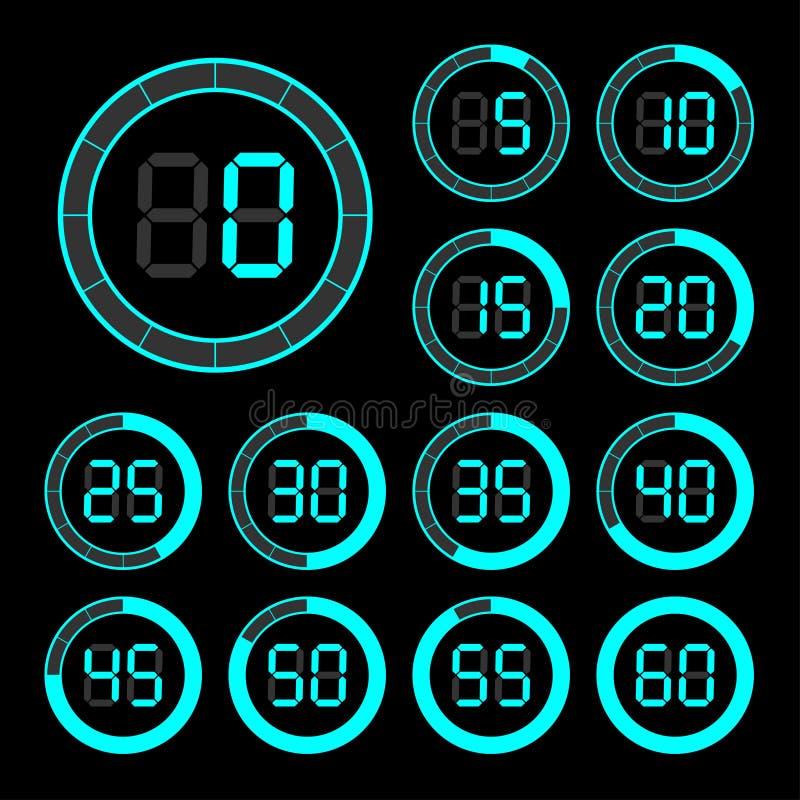 Grupo de cronômetro dos ícones ilustração stock