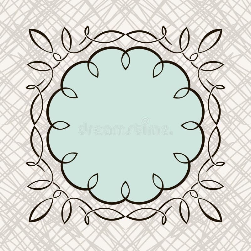 Grupo de design floral caligráfico da tração da mão ilustração do vetor