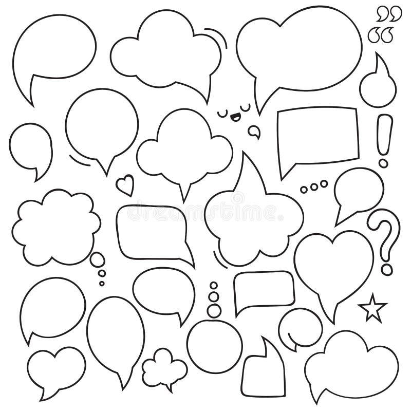 Grupo de diálogos das bolhas Bolha do pensamento ilustração do vetor