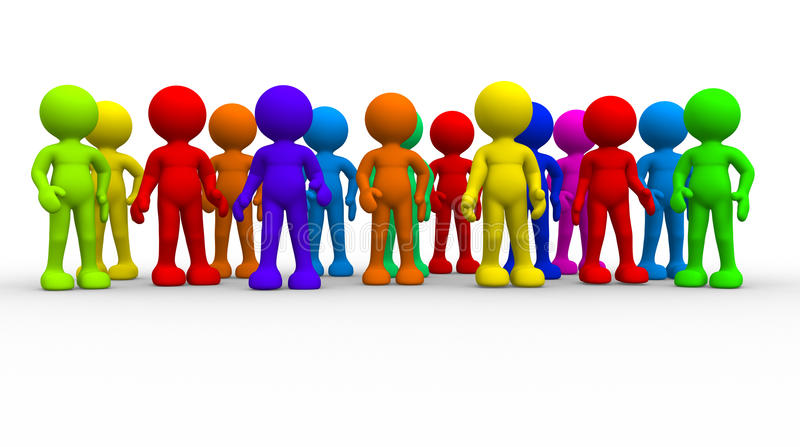Grupo de diversa gente