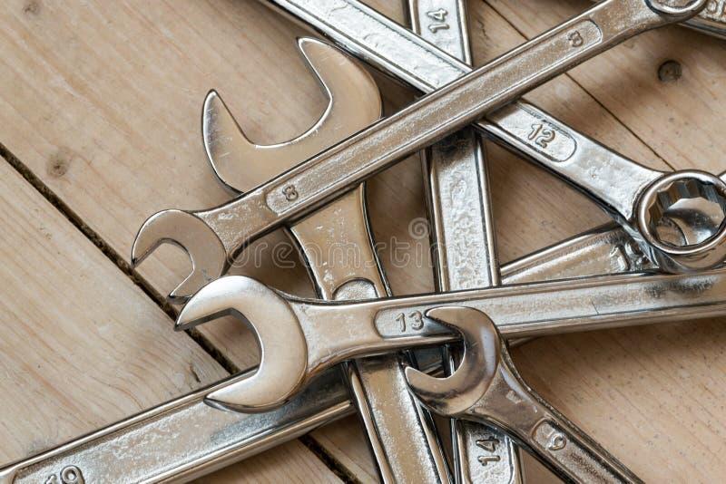 Grupo de DIY das chaves inglesas home foto de stock