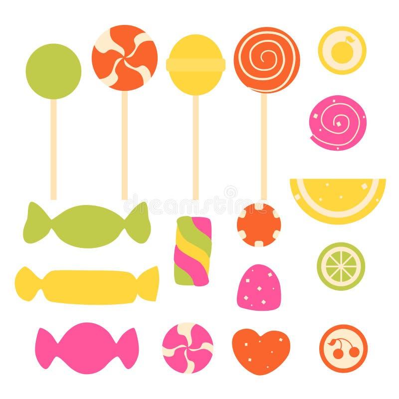 Grupo de doces doces ilustração royalty free