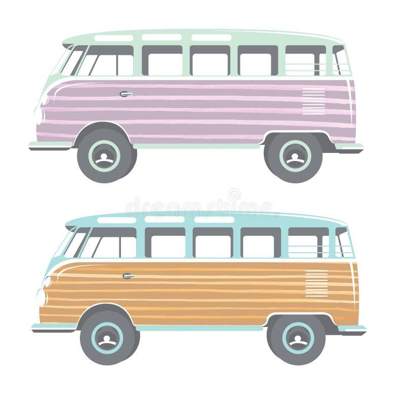 Grupo de dois caminhões ilustração do vetor
