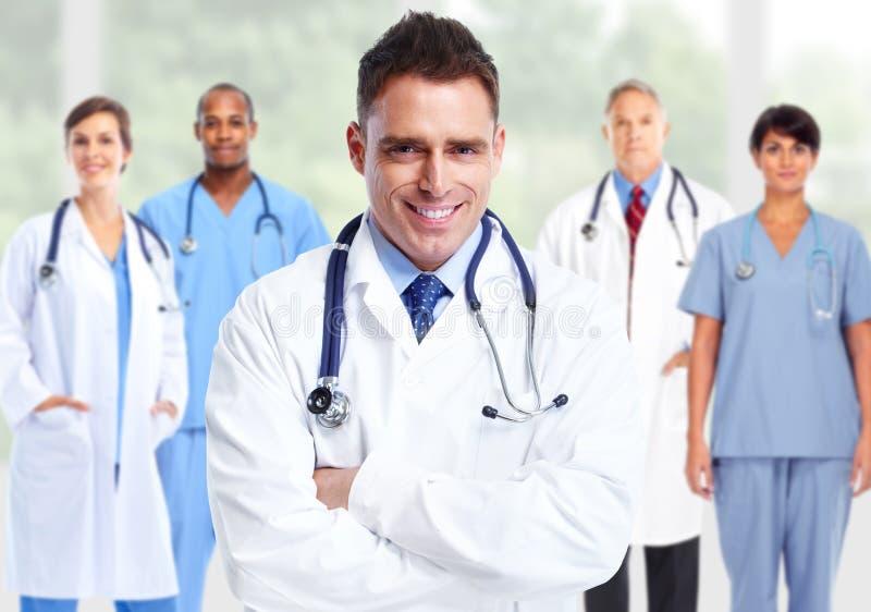 Grupo de doutores de hospital imagens de stock royalty free
