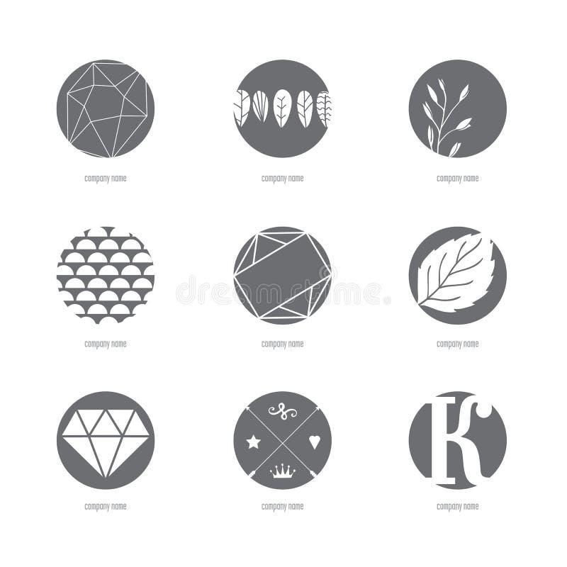 Grupo de duas placas circulares ilustração royalty free