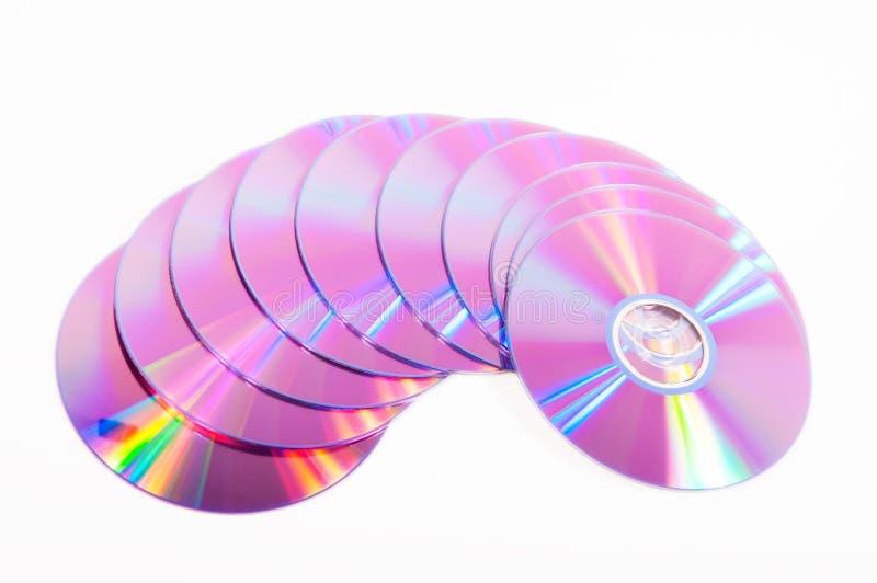 Grupo de DVDs foto de archivo