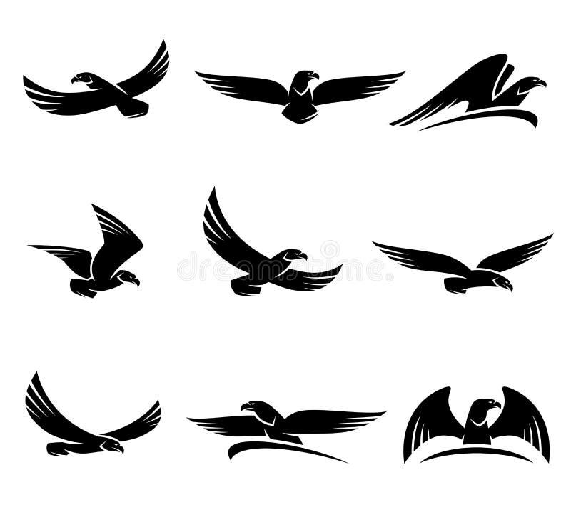 Grupo de Eagles Vetor ilustração do vetor