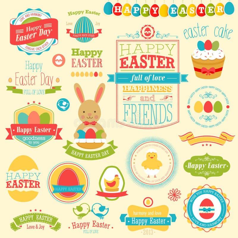 Grupo de Easter ilustração stock