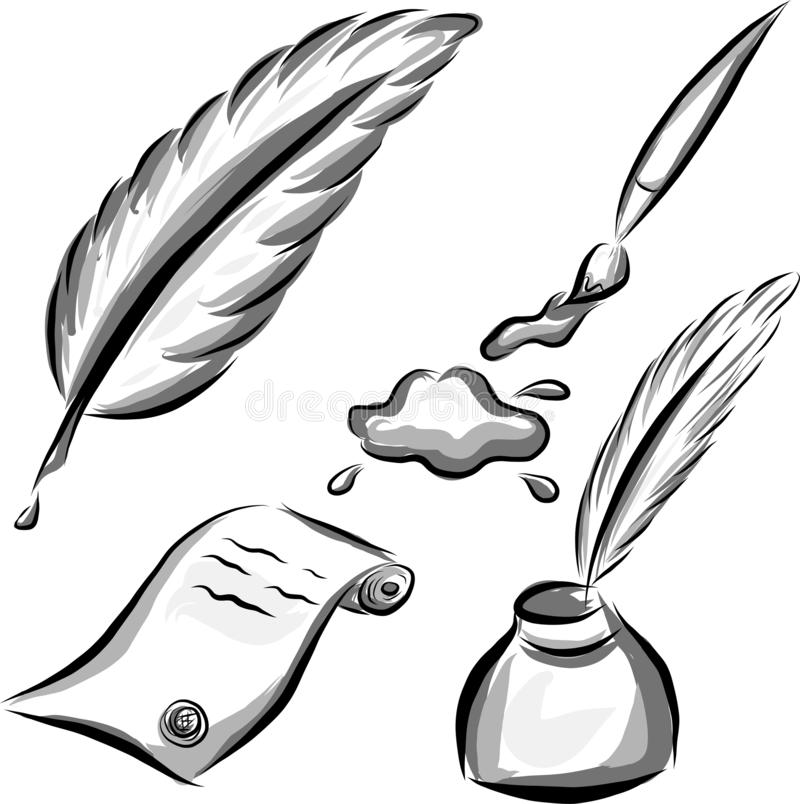 Grupo de elementos da arte do vetor ilustração royalty free