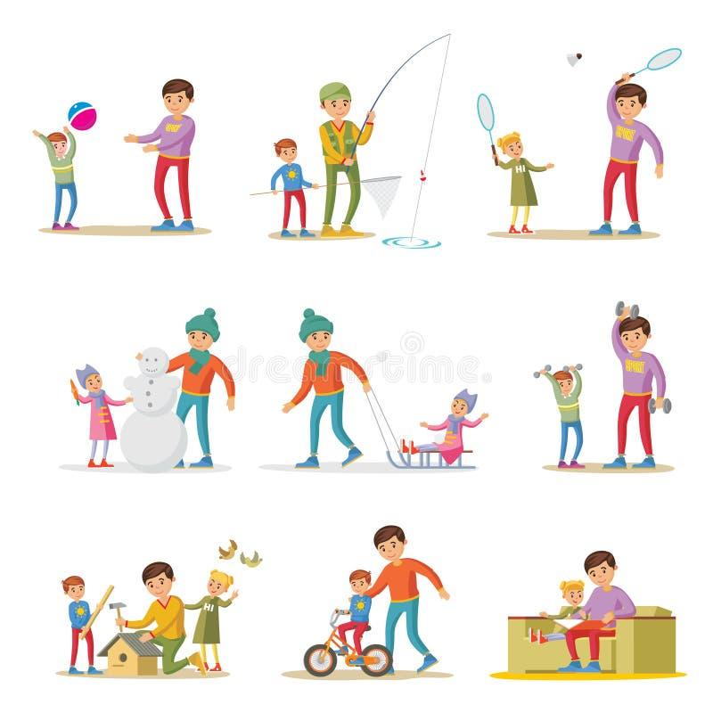 Grupo de elementos da paternidade ilustração do vetor