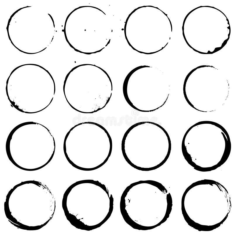 Grupo de elementos 02 do círculo ilustração royalty free