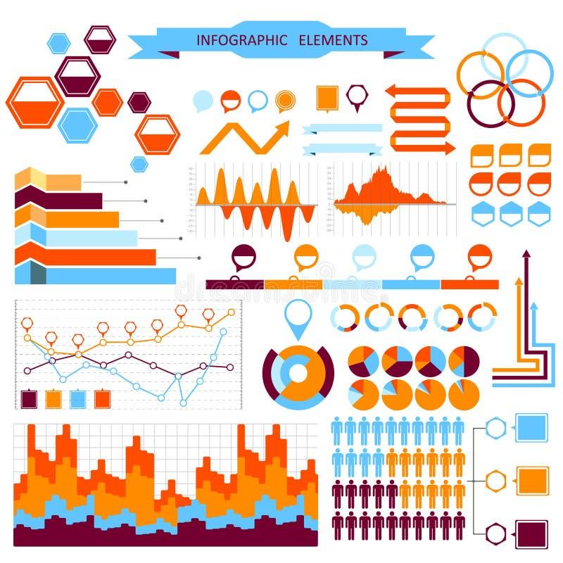 Grupo de elementos do informação-gráfico do vetor ilustração royalty free