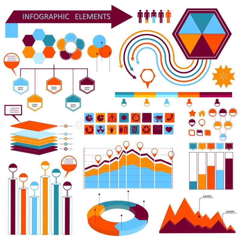Grupo de elementos 01 do informação-gráfico do vetor ilustração do vetor