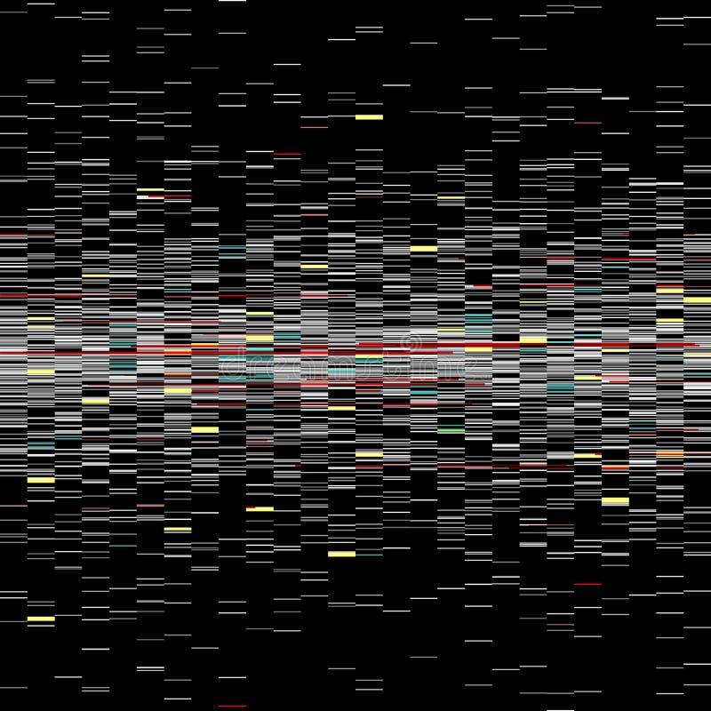 Grupo de elementos do pulso aleatório Moldes do erro do tela de computador Projeto do sumário do ruído do pixel de Digitas Pulso  ilustração royalty free