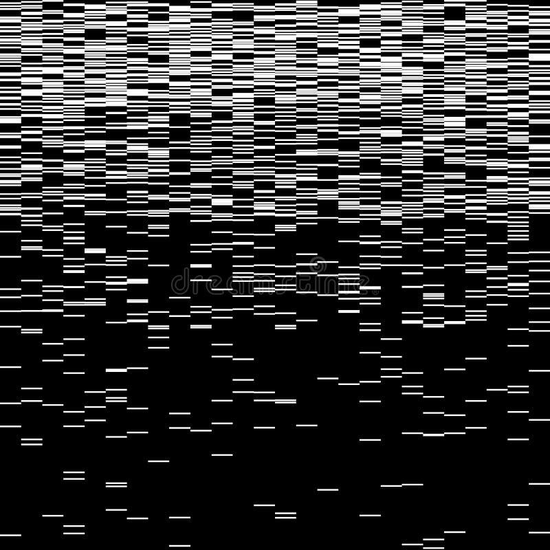Grupo de elementos do pulso aleatório Moldes do erro do tela de computador Projeto do sumário do ruído do pixel de Digitas Pulso  ilustração stock
