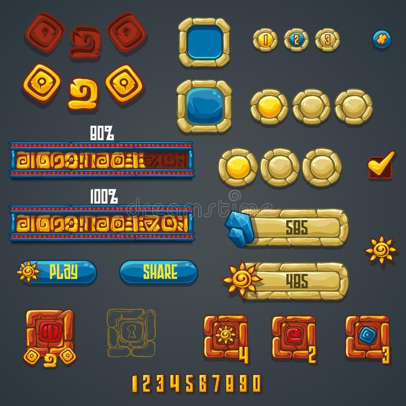 Grupo de elementos e de símbolos diferentes para o design web e o cálculo ilustração royalty free