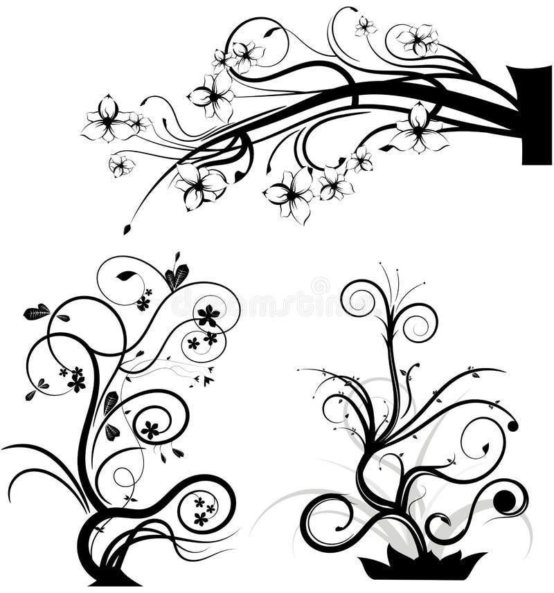 Grupo de elementos gráficos de roda imagem de stock royalty free