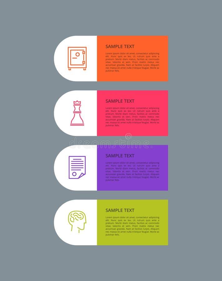 Grupo de elementos Grey Vetora Illustration de Infographic ilustração stock